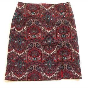 Talbots skirt, Sz 8, multicolored